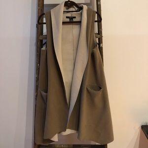 Long vest cardigan